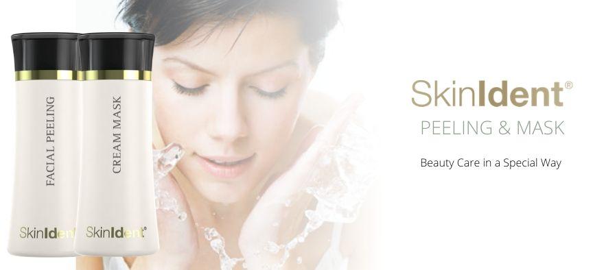 Peeling og masker fra SkinIdent hudplejeserie